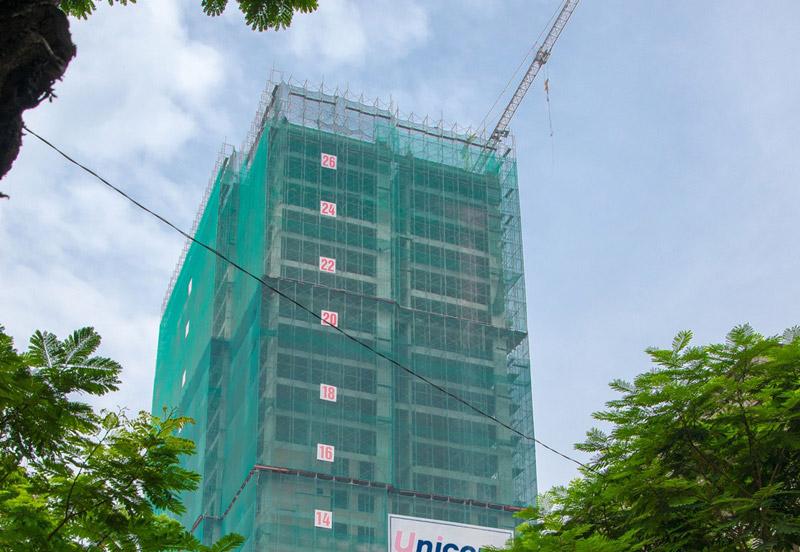The Gold View đã xây đến tầng 28
